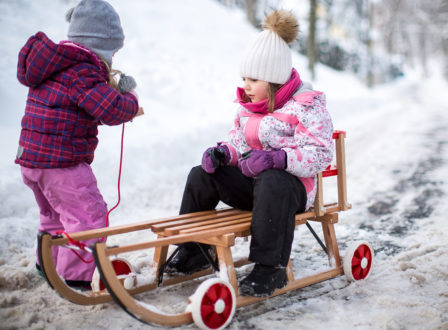 Roll-Rodel – die geniale Idee für den Winter