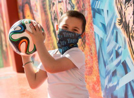 Gewinnt eine der coolen Covid19-Kindermasken!